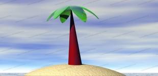 3d-Desert Island