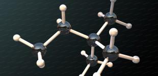 Beryllium chloride molecule 3D