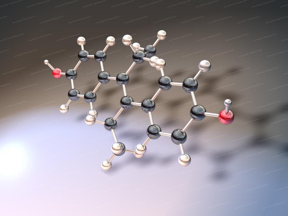 Estrogen molecule 3D