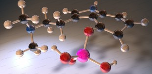 Psilocybin molecule 3D